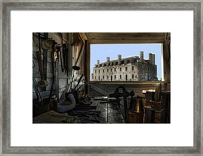 Blacksmith Shed Framed Print by Peter Chilelli