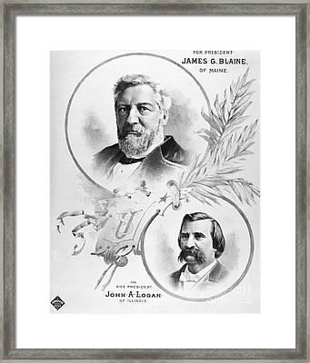 Blaine: Election Of 1884 Framed Print by Granger