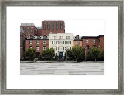 Blair House Is The Official Framed Print by Everett