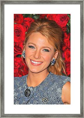 Blake Lively At Arrivals For Momas 4th Framed Print by Everett
