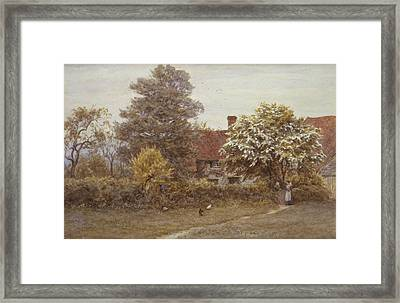 Blake's House Hampstead Heath Framed Print by Helen Allingham