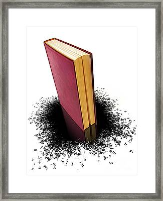 Bleading Book Framed Print by Carlos Caetano