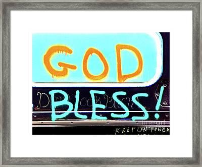 Bless You Framed Print by Joe Jake Pratt