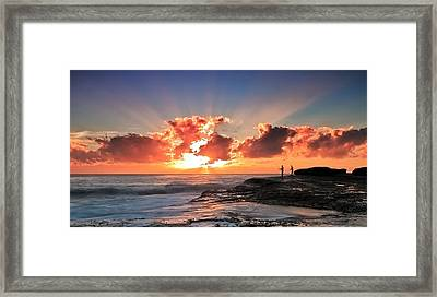 Blessed Fishermen Framed Print by Mark Lucey