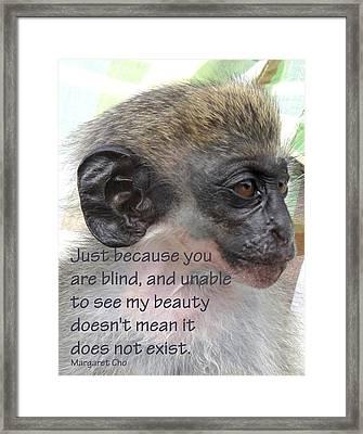 Blind Beauty Framed Print by Ian  MacDonald