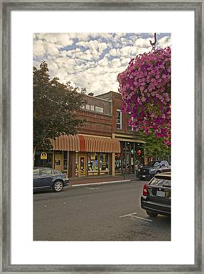 Blind Georges And Laughing Clam On G Street In Grants Pass Framed Print by Mick Anderson