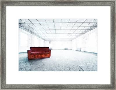 Blinded By Light. Enlightened By Darkness Framed Print by Evelina Kremsdorf