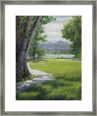 Blke Trail 1 Framed Print by Susan Driver