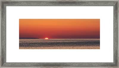Block Island Sunrise Framed Print by William Jobes
