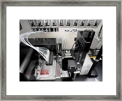 Blood Analysis Machine Framed Print by Tek Image