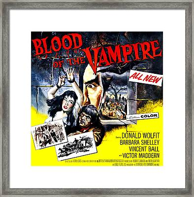 Blood Of The Vampire, From Left Barbara Framed Print by Everett
