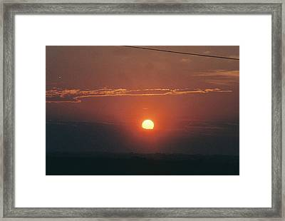 Blood Red Framed Print by Trent Mallett