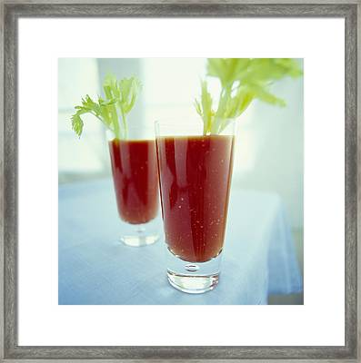 Bloody Mary Cocktails Framed Print by David Munns