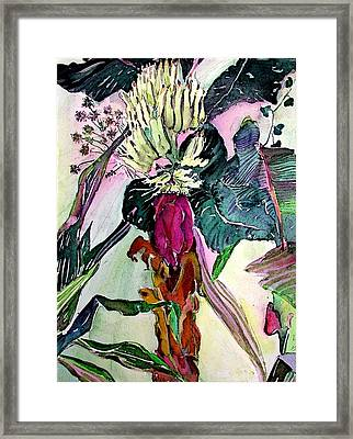 Blooming Bananas  Framed Print by Mindy Newman