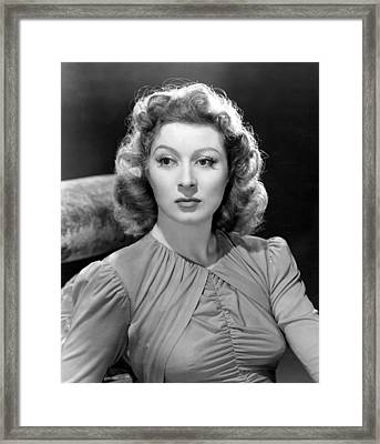 Blossoms In The Dust, Greer Garson, 1941 Framed Print by Everett