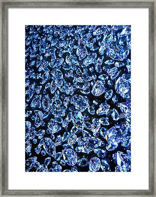 Blue ... Framed Print by Juergen Weiss