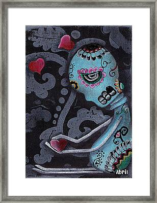 Blue Framed Print by  Abril Andrade Griffith