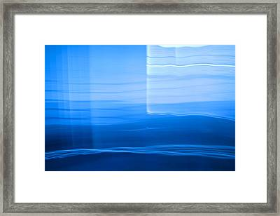Blue Abstract 1 Framed Print by Mark Weaver