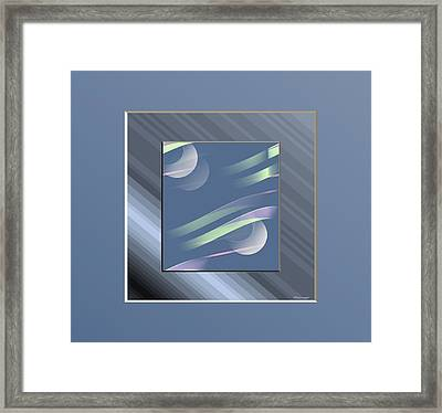 Blue  And Stripes Framed Print by Ines Garay-Colomba