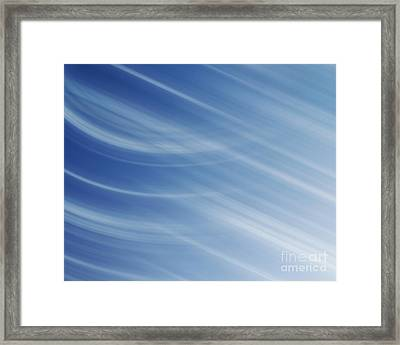 Blue And White Linear Background Framed Print by Blink Images