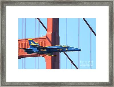 Blue Angels F-18 Super Hornet . 7d8045 Framed Print by Wingsdomain Art and Photography