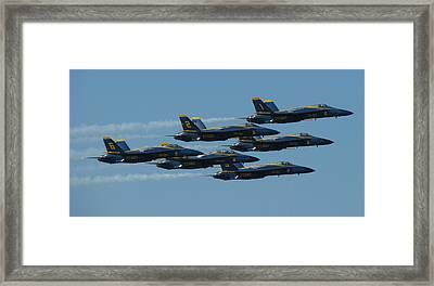 Blue Angels Take 6 Framed Print by Samuel Sheats