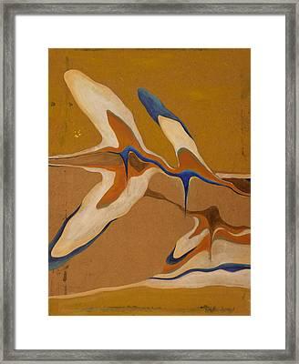Blue Birds Framed Print by Devin Roberts