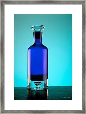 Blue Bottle Framed Print by Michelle Wiarda