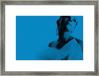 Blue Bride Framed Print by Naxart Studio