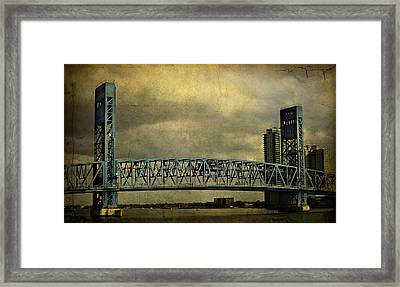 Blue Bridge Framed Print by Mario Celzner