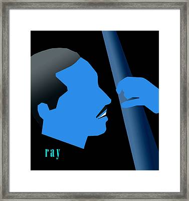 Blue Brown Framed Print by Victor Bailey
