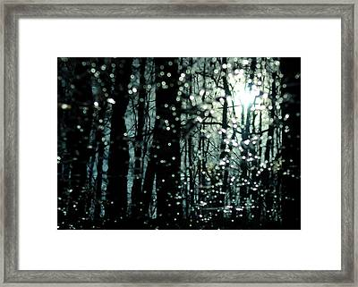 Blue Burns The Twilight Framed Print by Rebecca Sherman