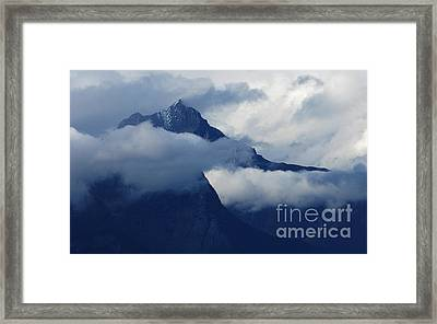Blue Canadian Rockies Framed Print by Bob Christopher