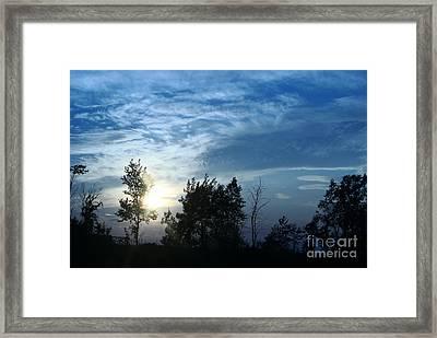 Blue Canvas Sky 03 Framed Print by Aimelle