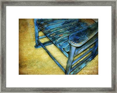 Blue Chair Framed Print by Judi Bagwell