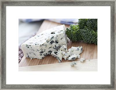 Blue Cheese Framed Print by Charlotte Lake