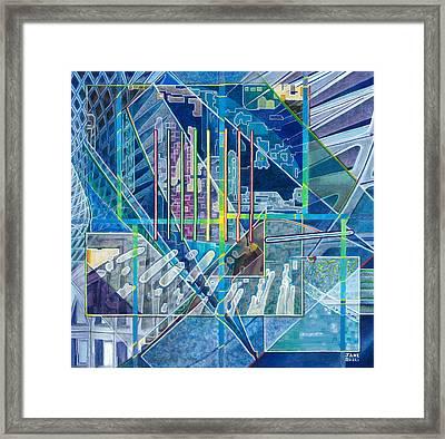 Blue City Day Framed Print by Jane Bucci