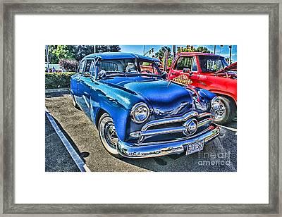 Blue Classic Hdr Framed Print by Randy Harris