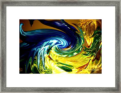 Blue Claw Framed Print by Cheryl Young