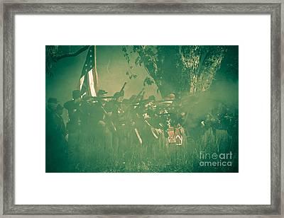 Blue Coats Fire Framed Print by Kim Henderson