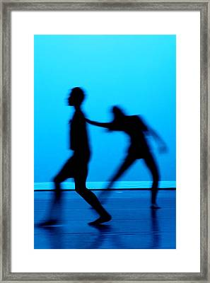 Blue Dancers Framed Print by Kenneth Mucke