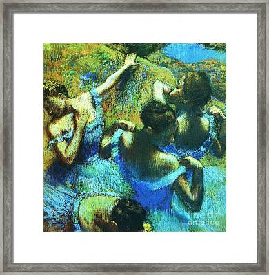 Blue Dancers Framed Print by Pg Reproductions