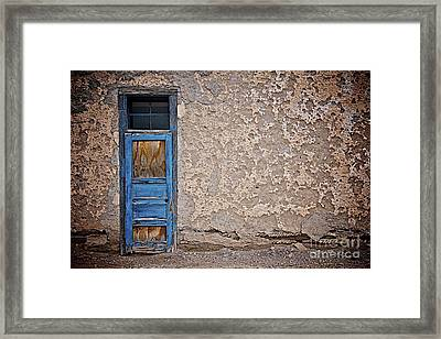 Blue Door Framed Print by Sherry Davis