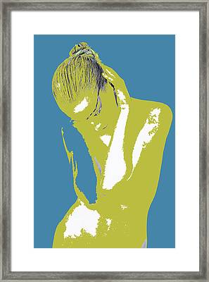 Blue Drama Framed Print by Naxart Studio