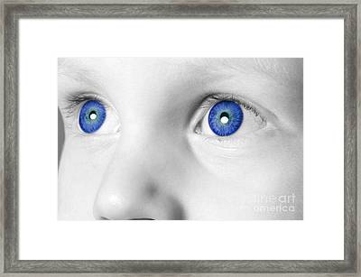 Blue Eyed Boy Framed Print by Richard Thomas