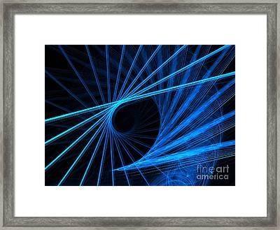 Blue Fantasy Framed Print by Yali Shi