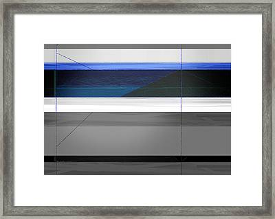 Blue Flag Framed Print by Naxart Studio