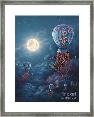Blue Floaters Framed Print by Lynette Cook