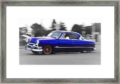 Blue Ford Customline Framed Print by Phil 'motography' Clark