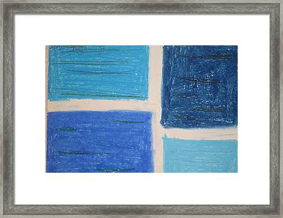 Blue Framed Print by Genoa Chanel
